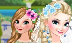 Noite Elsa e Dama de Honra Anna