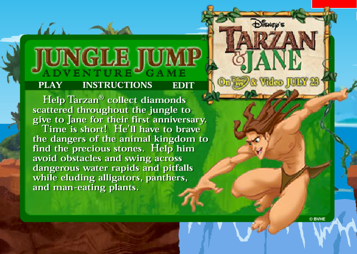 Tarzan e Jane Pulando na selva