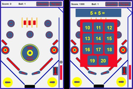 PinBall Simple Addition Practice