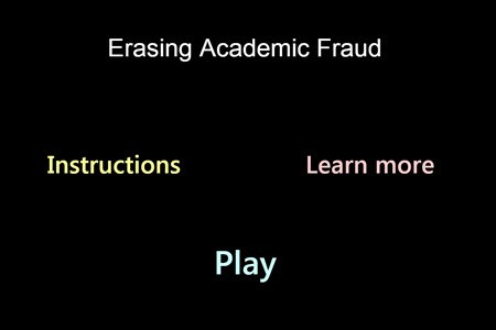 Erasing Academic Fraud