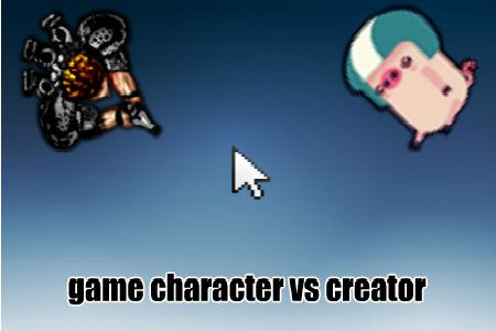 game character vs creator