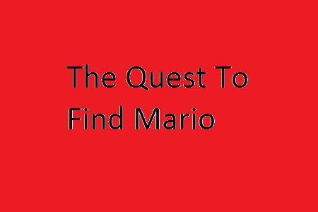 The Quest To Find Mario