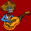 Musician Skeleton Coloring