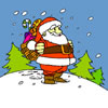 Jolly Santa Claus Coloring
