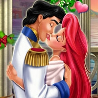 Mermaid Princess Mistletoe Kiss