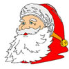 Portrait of Santa Claus Coloring