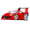 Cool Little Red Racing Car