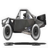 Silver Off Road Racing Car