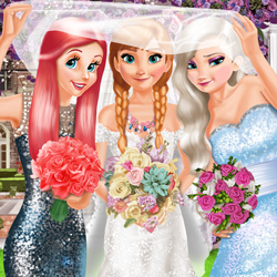 Bride and Bridesmaids Dress Up