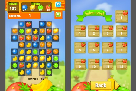 Fruits match 3 full + levels for Sale