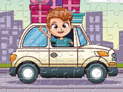 Kids Driving Jigsaw