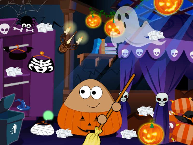 Pou festa de Halloween
