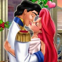 Mermaid Princess Mistletoe Kiss
