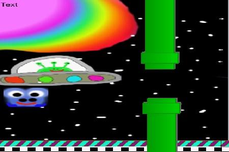 fluffy flappy alien